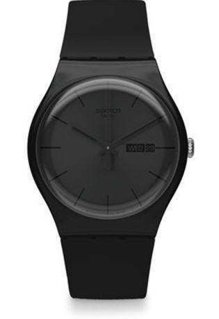 montre swatch femme noire
