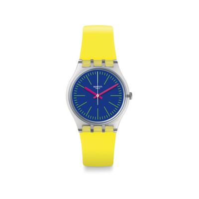 montre swatch jaune
