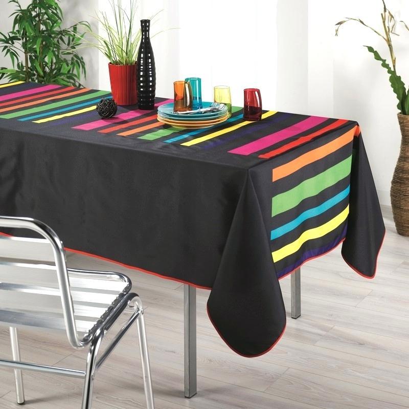 nappe polyester anti tache ovale