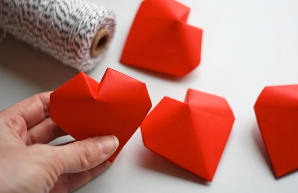 origami coeur 3d