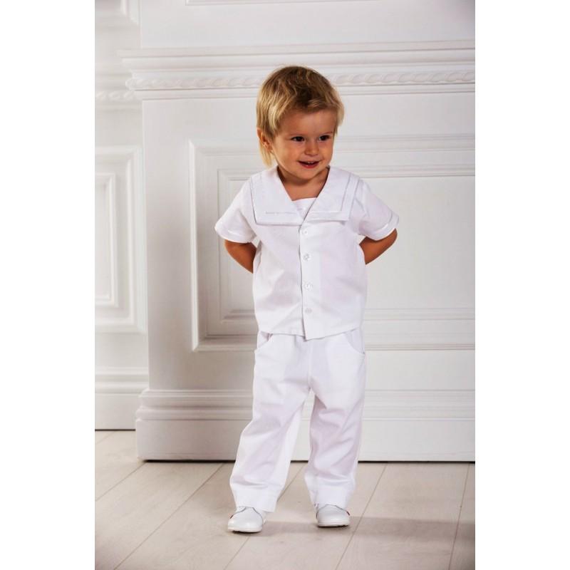 pantalon blanc bébé bapteme