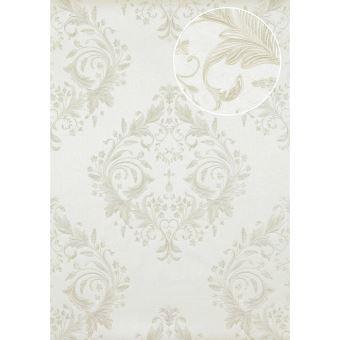 papier peint blanc baroque