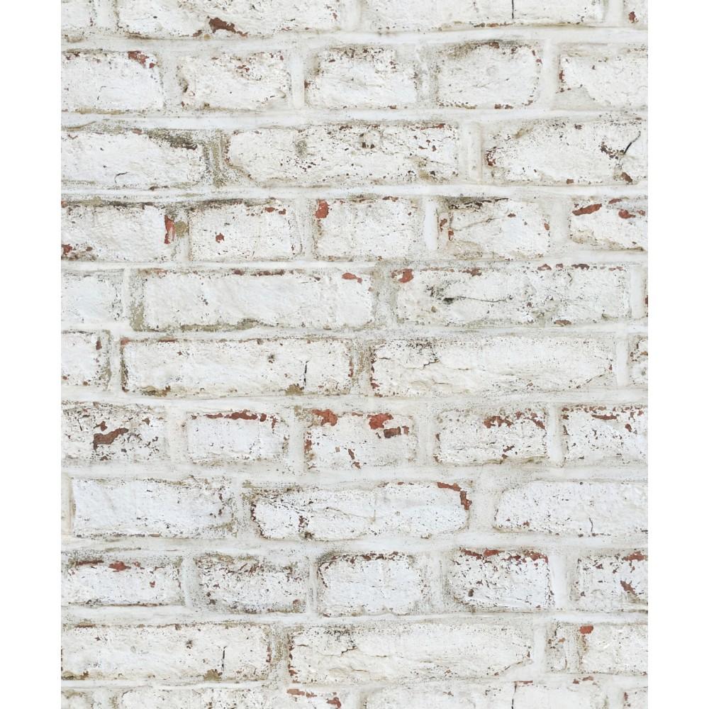 papier peint brique blanc