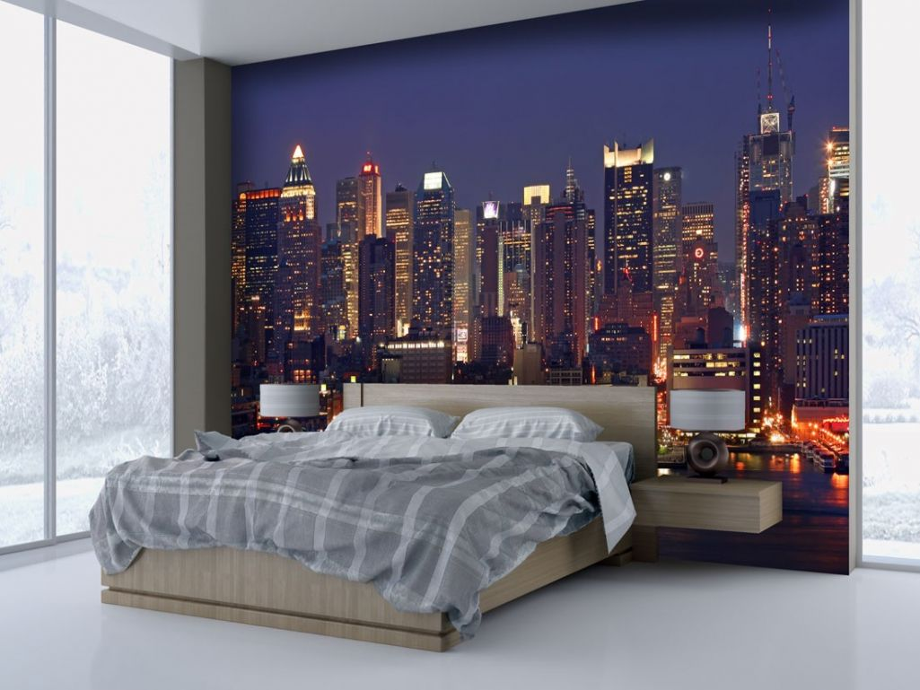 papier peint chambre new york