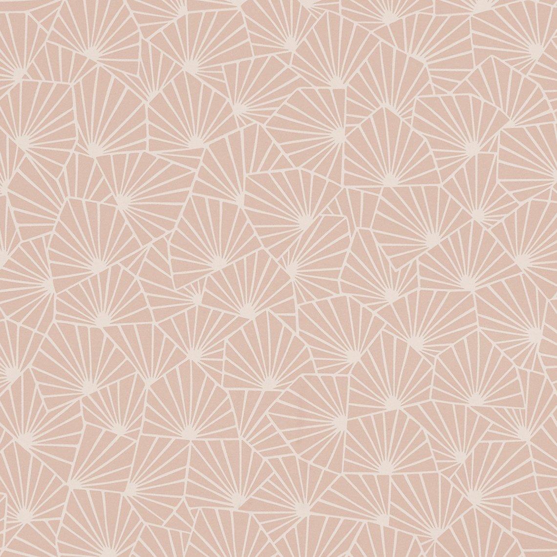 papier peint graphique rose