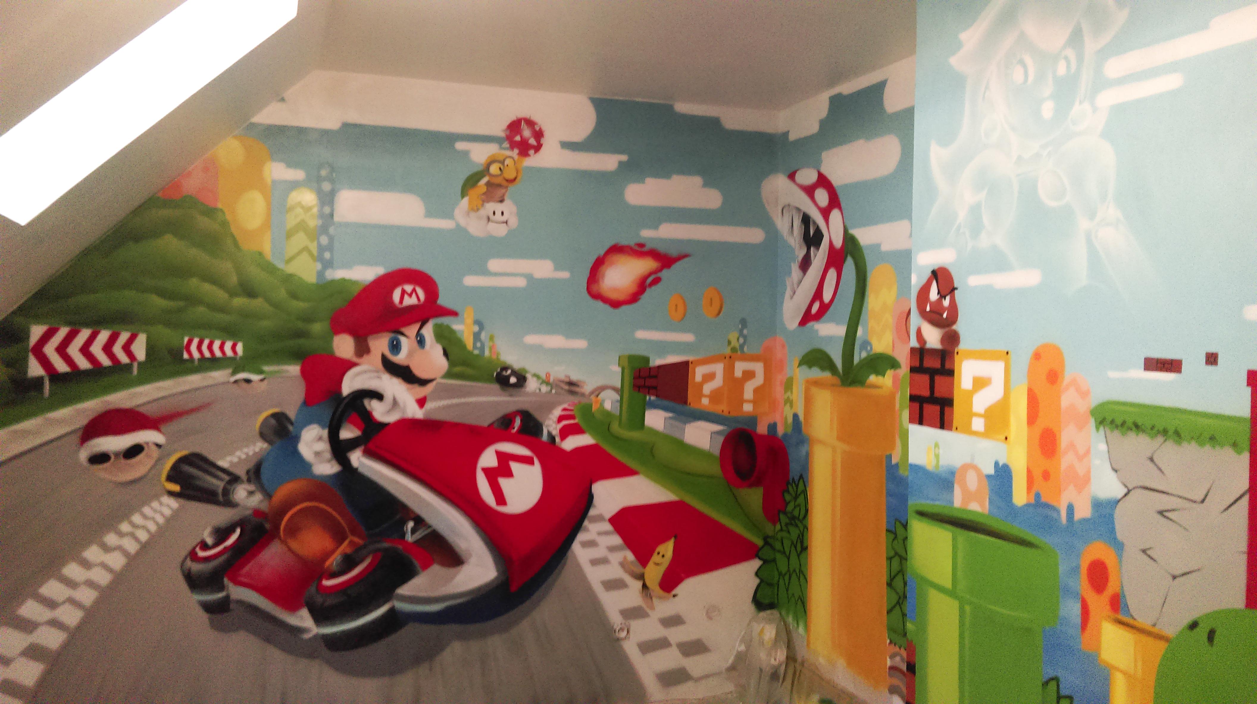 papier peint salle de jeux
