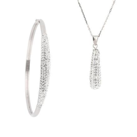 parure collier bracelet swarovski