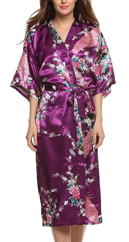 peignoir kimono soie