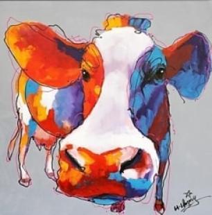 peinture de vache moderne
