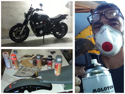 peinture moto bombe