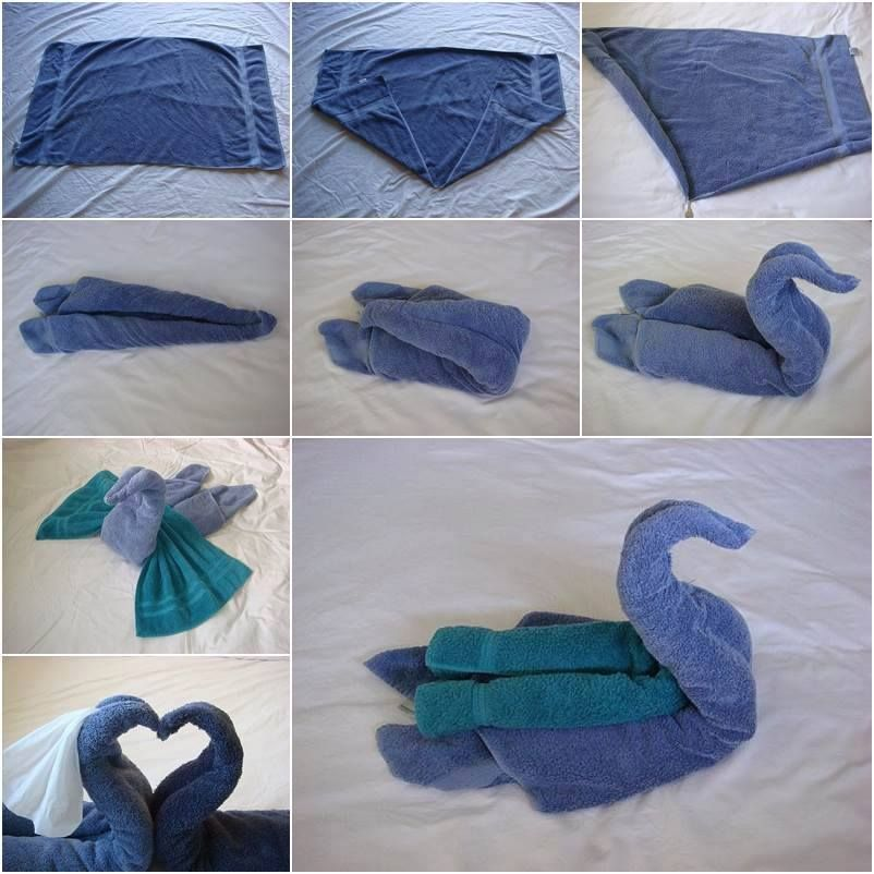 pliage serviette bain