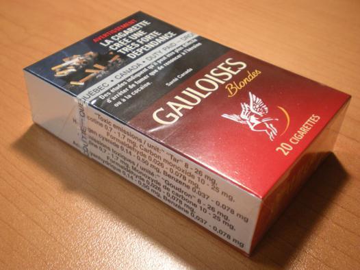 poids d\'un paquet de cigarettes