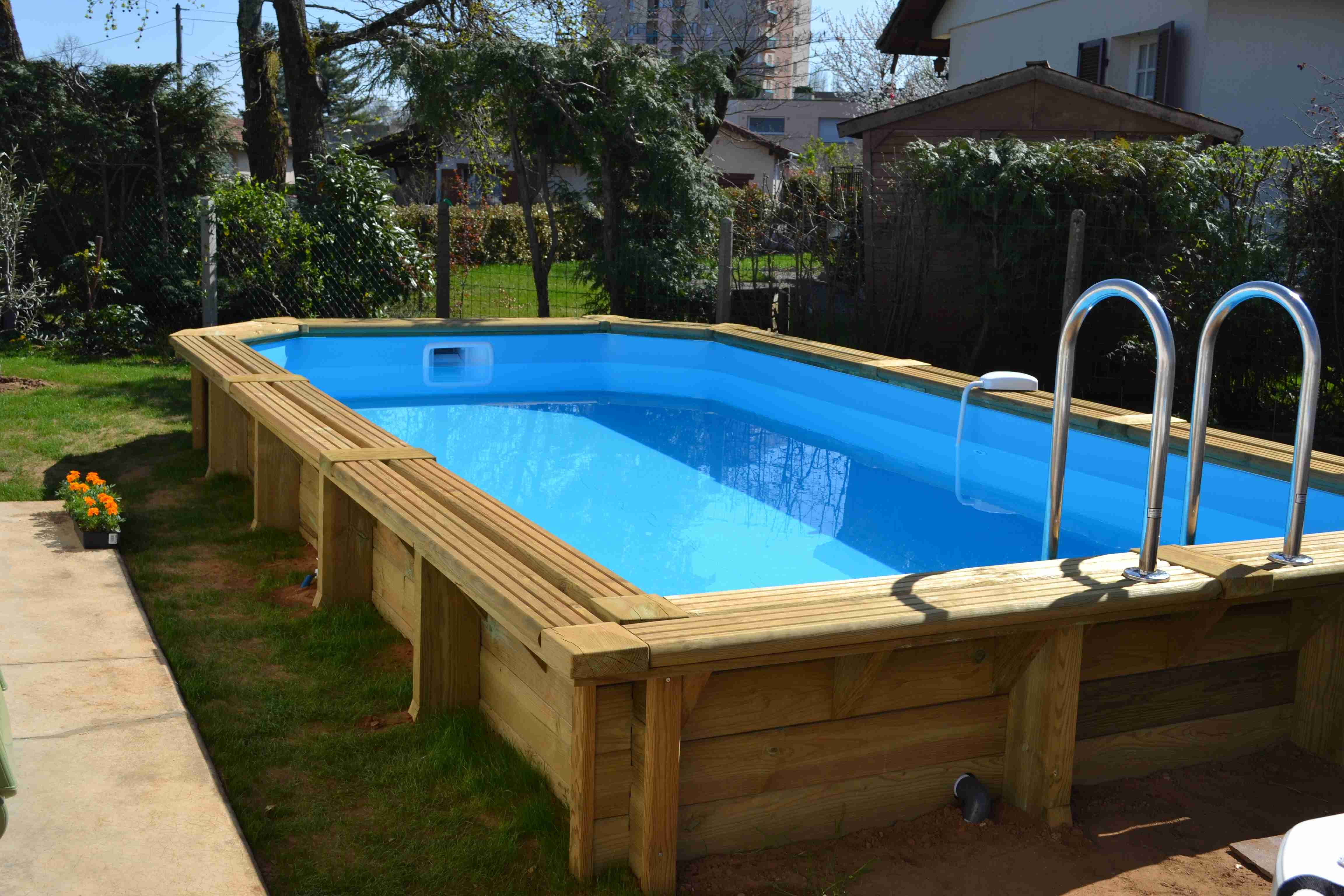 promo piscine hors sol bois