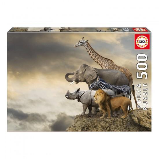 puzzle animaux 500 pièces