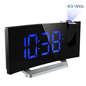 radio réveil avec projection de l'heure au plafond