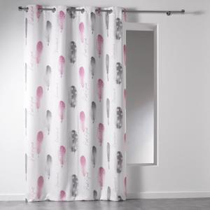 rideau gris et rose