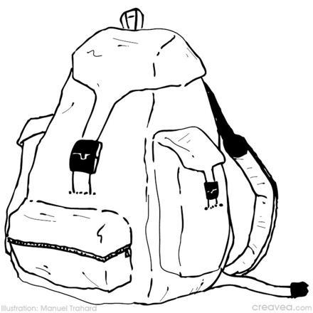 sac à dos randonnée dessin
