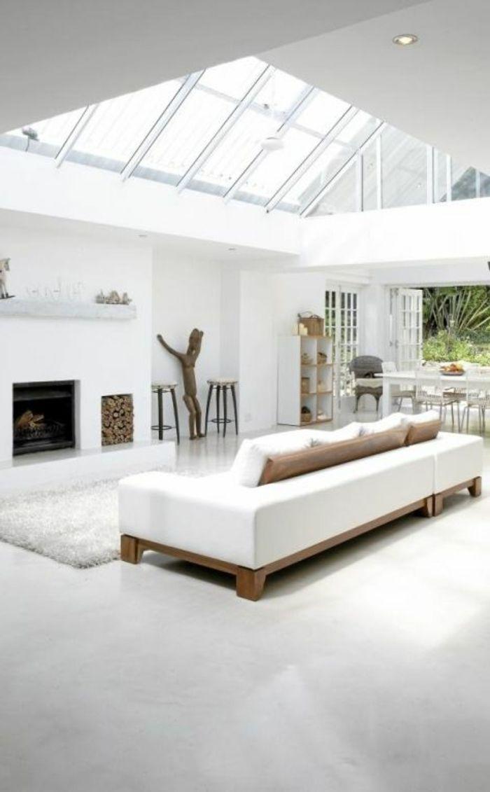 salon sol blanc