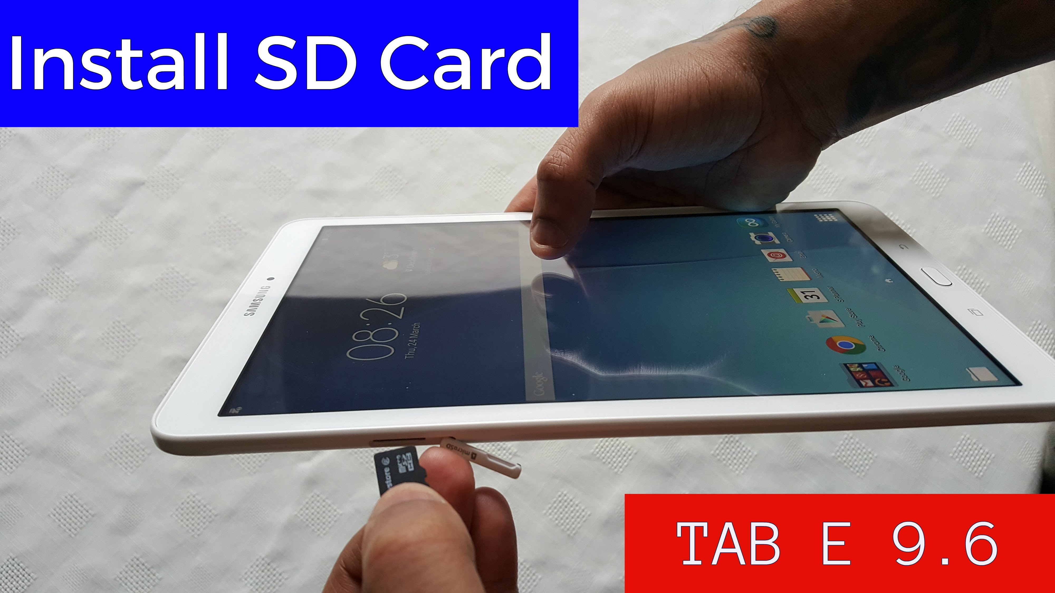 samsung galaxy tab e carte sd
