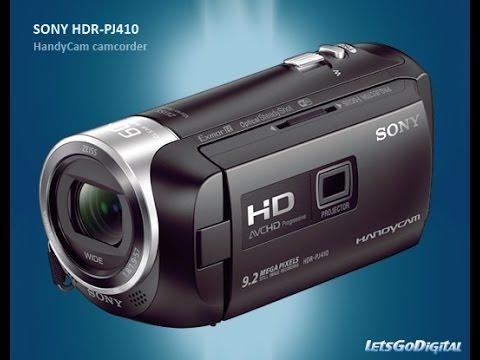 sony hdr pj410 test