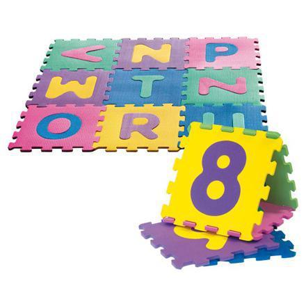tapis d'éveil puzzle mousse chiffres lettres