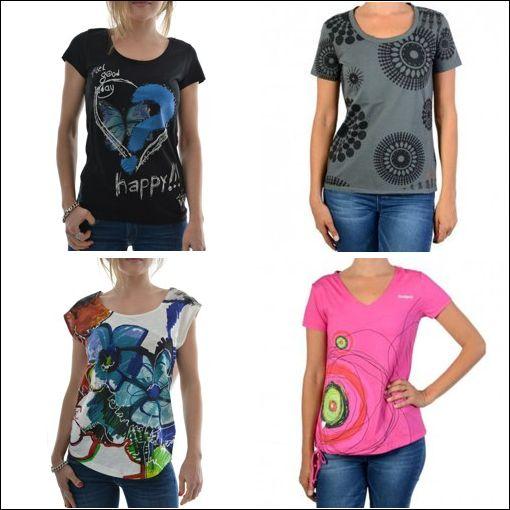 tee shirt femme desigual pas cher