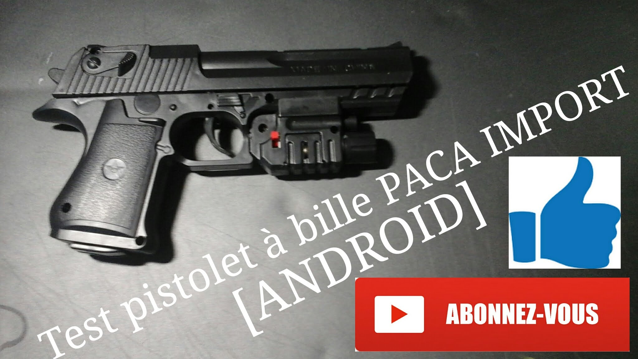 test pistolet a bille