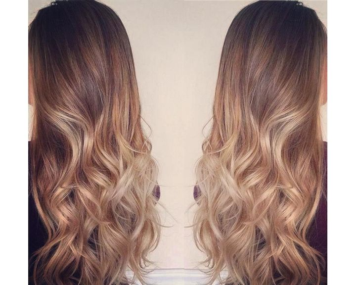 tie and dye caramel blond