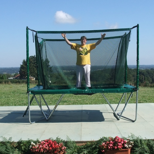 trampoline rectangulaire avec filet