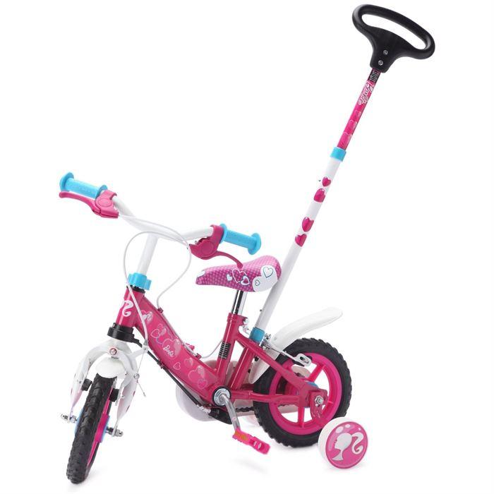 vélo 10 pouces avec canne directionnelle